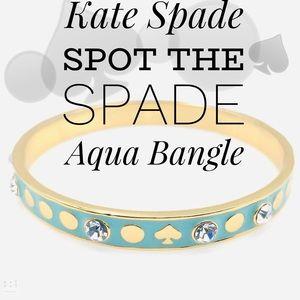 Kate Spade Spot The Spade Aqua Bangle